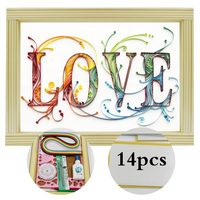 Paper Quilling Paper Assorted Multicolor Handcraft Origami DIY Home Decoration Pressure Relief Gift Manualidades Colorful Love