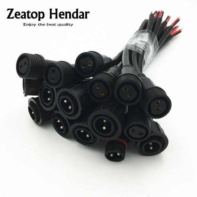 1 Paar M12 Wasserdicht 2 3 4 5 Pin IP65 Kabel Draht Stecker für LED ...