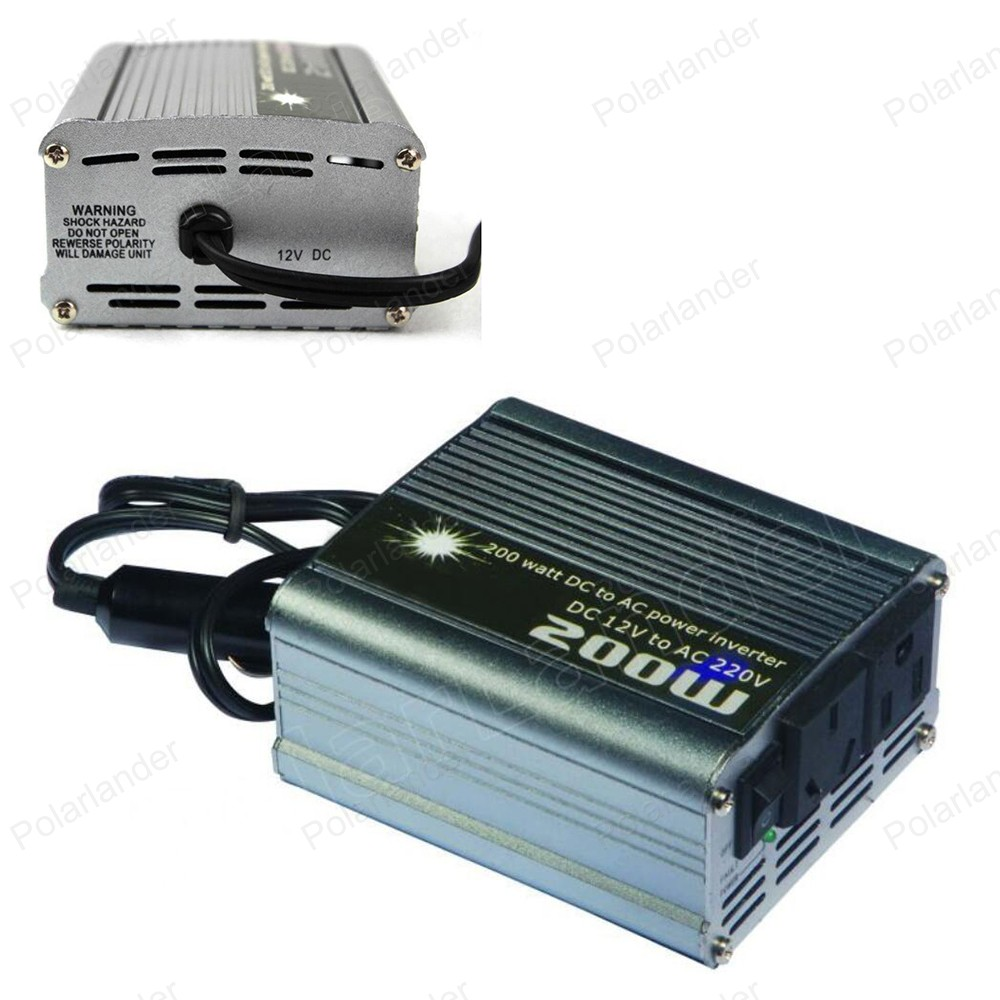 car styling 200W transformer Inverter Modified Sine Wave DC 12V to AC 220V Converter Vehicle Power Supply