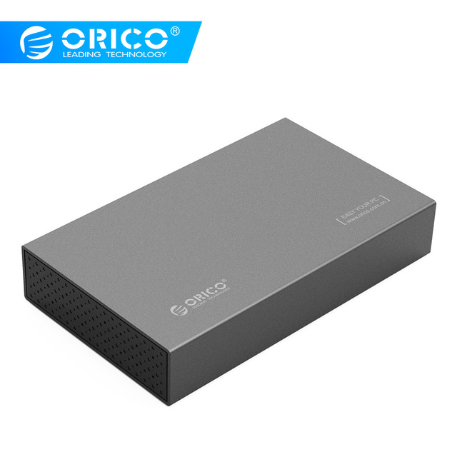 ORICO 3.5Aluminum HDD Case SATA 3.0 to USB 3.0 HDD Enclosure Supprt 10TB Hard Drive 6Gbps UASP USB Case With 12V Power Adapter
