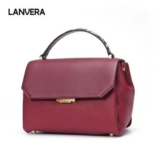 2018 new leather woman bag Fashion lady handbag Casual genuine leather woman shoulder bag Crossbody bag free shipping