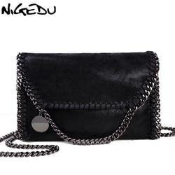 NIGEDU Fashion Womens design Chain Detail Cross Body Bag Ladies Shoulder bag clutch bag bolsa franja luxury evening bags