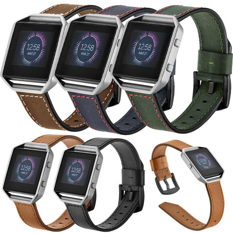 רטרו עור צמיד חכם להקת שעון רצועה + מקרה כיסוי עבור Fitbit Blaze PG9 מקצועי במפעל מחיר Drop