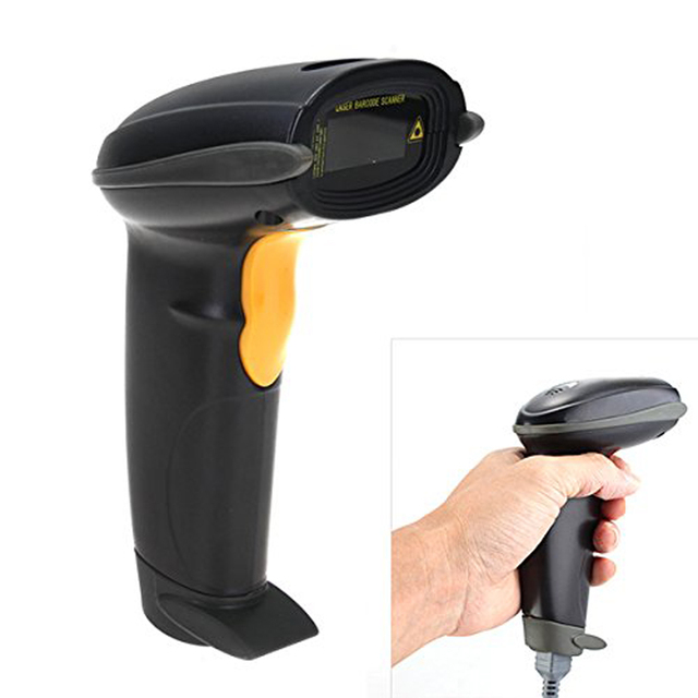 Big Promo NOYOKERE  Best  New Promotions 1Pc POS Supermarket Handheld Wired Laser Barcode Scanner Bar Code Scanning Reader With USB Cable