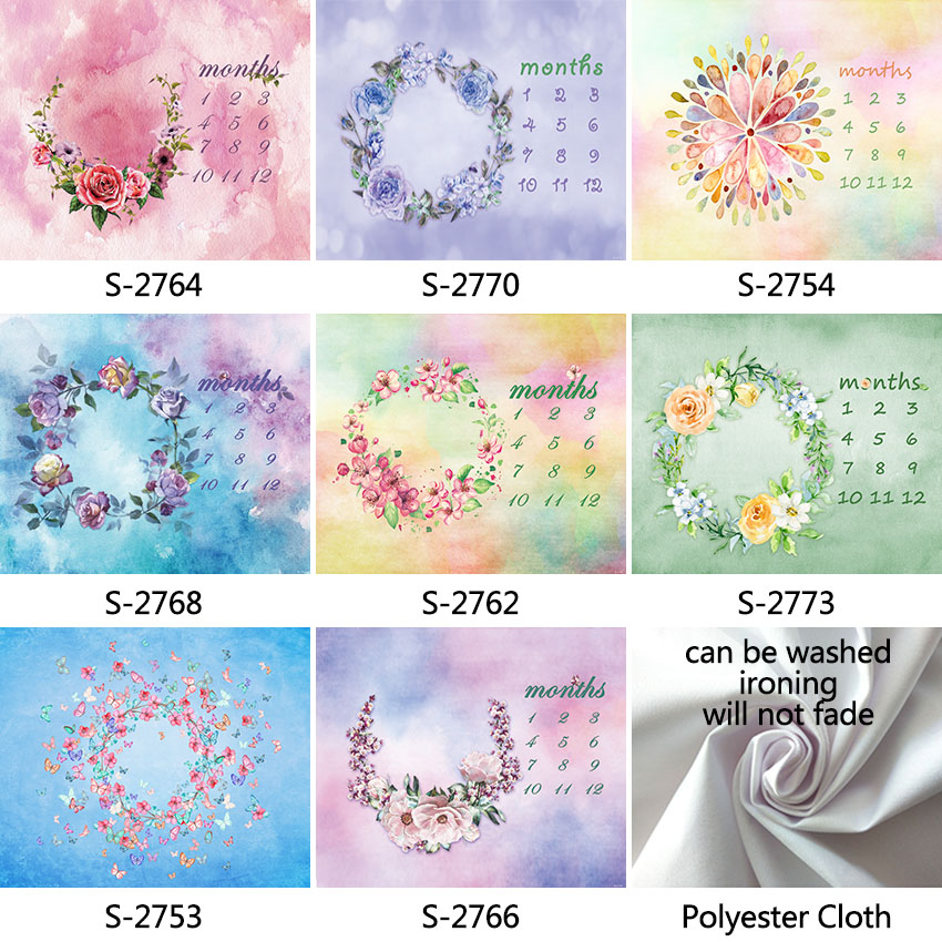 6X5FT Polyester Cloth Newborn Photography Backdrops Visiting Service Easy to Carry Washable Baby Shower kid Photo Backgrounds дождевики esspero newborn easy
