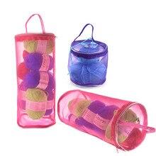 KOKNIT вязаная пряжа круглая сумка для вязания крючком нейлоновый чехол для пряжи Органайзер корзины для хранения дорожные швейные инструменты Швейные аксессуары