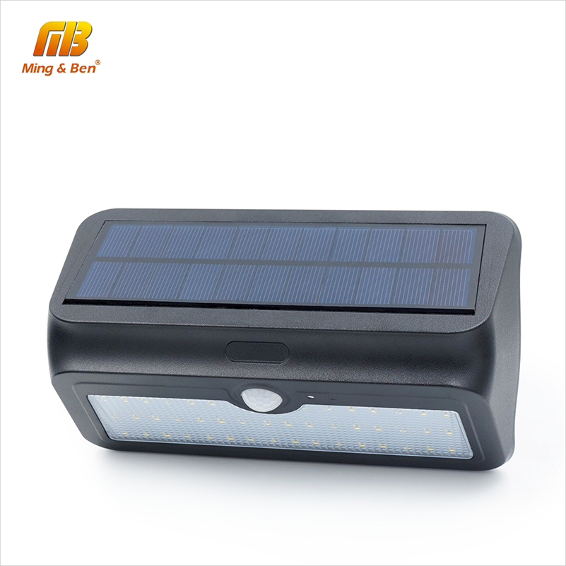 [MingBen] Waterproof LED Solar Light 24 37 46 LEDs Solar Panels Power PIR Motion Sensor LED Garden Light Outdoor Solar Wall Lamp waterproof 16 led solar light solar panels power pir motion sensor led garden light outdoor pathway sense solar lamp wall light