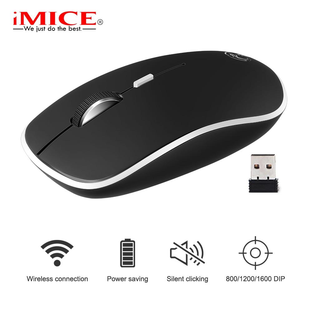 IMice Sans Fil Souris Ordinateur Slient souris Pour PC Portable Mini Mause Ergonomique Souris 2.4 ghz Optique Silencieux USB Souris