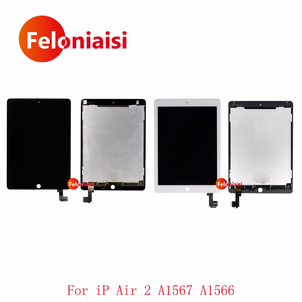 5Pcs/lot DHL EMS 9.7 For Apple Ipad Air 2 A1567 A1566 Full Lcd Display With Touch Screen Digitizer Panel Assembly Complete 5pcs lot wholesale for lg nexus 5 d820 lcd display with touch digitizer screen complete frame assembly free shipping