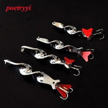 POETRYYI 1pc 10g 14g 21g 28g Metal Spoon Lure Fishing Hard Spinner Baits For Trout Pike Pesca Peche Tackle 35