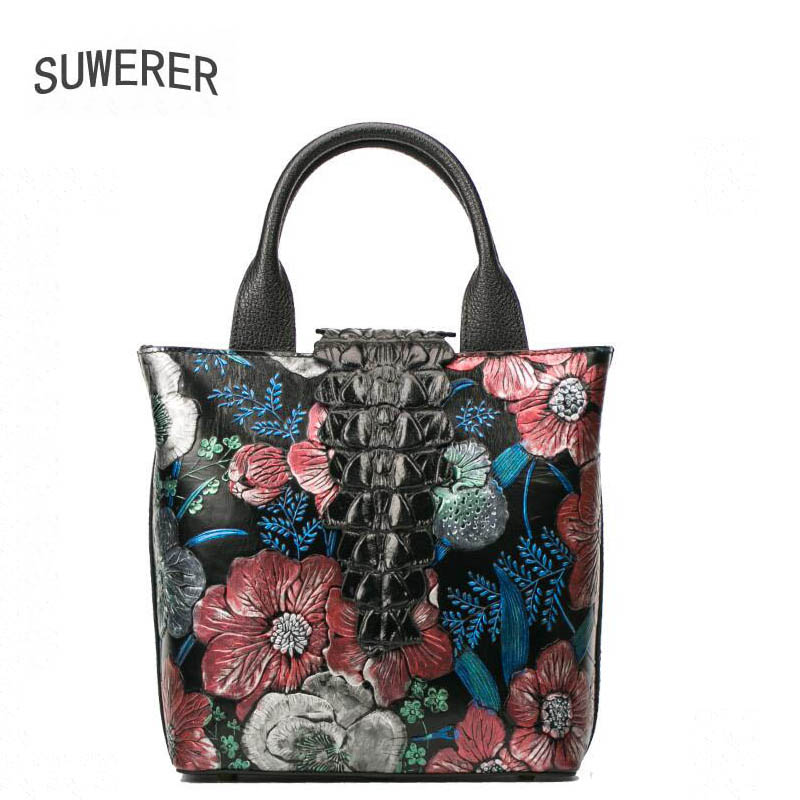 Genuine Leather handbag  2017 new luxury hand-painted flower handbag Fashion Shoulder Messenger Bag Womens handbags Genuine Leather handbag  2017 new luxury hand-painted flower handbag Fashion Shoulder Messenger Bag Womens handbags