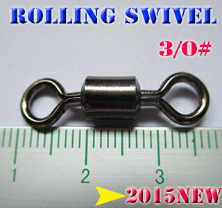2015new fishing rolling swivels size 6 3 0 high carbon steel quantity 100pcs lot professional quality choose what you need in Fishing Lures from Sports Entertainment