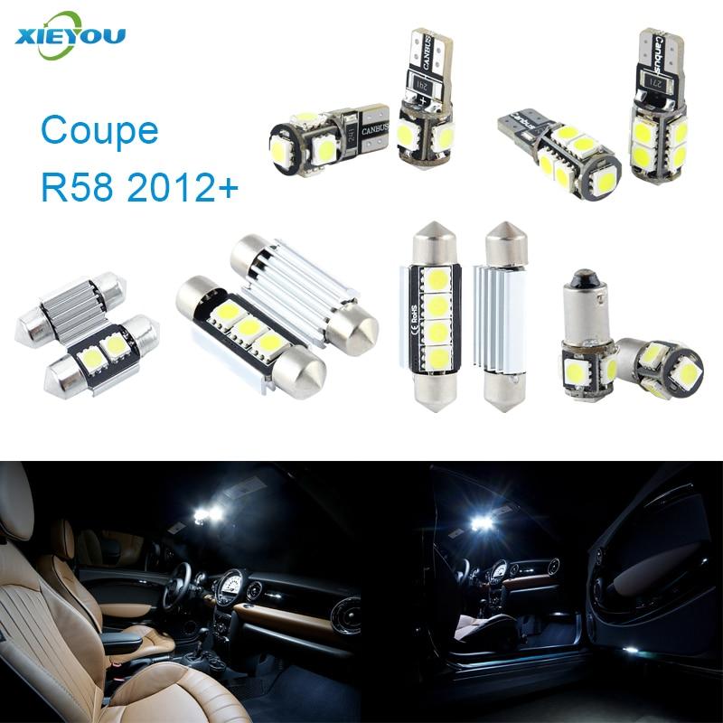 XIEYOU 9ks LED sada světel Canbus pro světla Cooper R58 - Autosvětla
