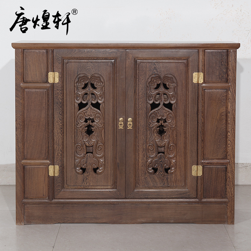 Tang Huangxuan Mahogany Furniture Wooden Chinese Shoe Cabinet Real Wood Partition Of The Cabinet Log Locker Special Offer