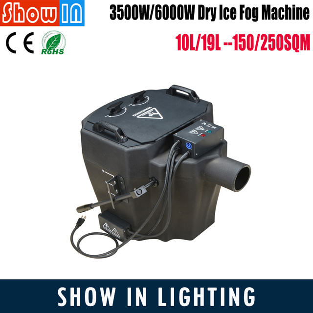3500W Dry Ice Fog Machine 30min DJ Disco Party Wedding Stage Lighting Effect 150 Square Meters Coverage  Free Shippping