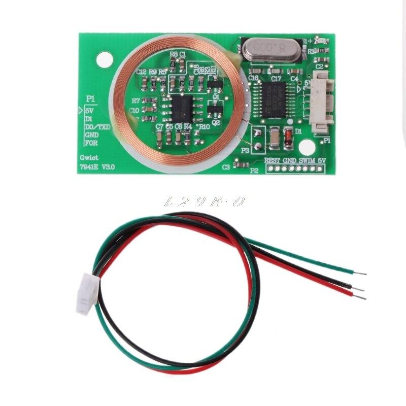 EM4100 8CM RFID Reader Wireless Module UART 3Pin 125KHz DC 5V Reading Sensor Kit
