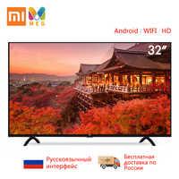 Télévision xiaomi TV Android smart TV LED 4 S 32 pouces   langue russe personnalisée   Multi langue