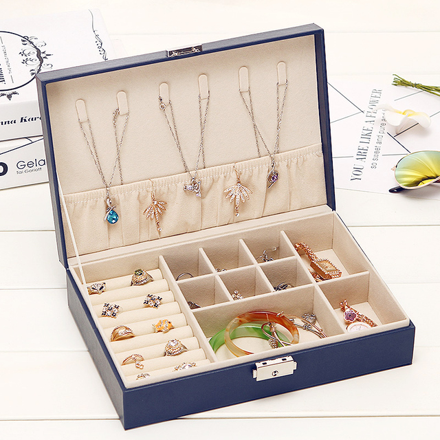 Jewelry Packaging Box Stud Earring Necklace Ring Accessories