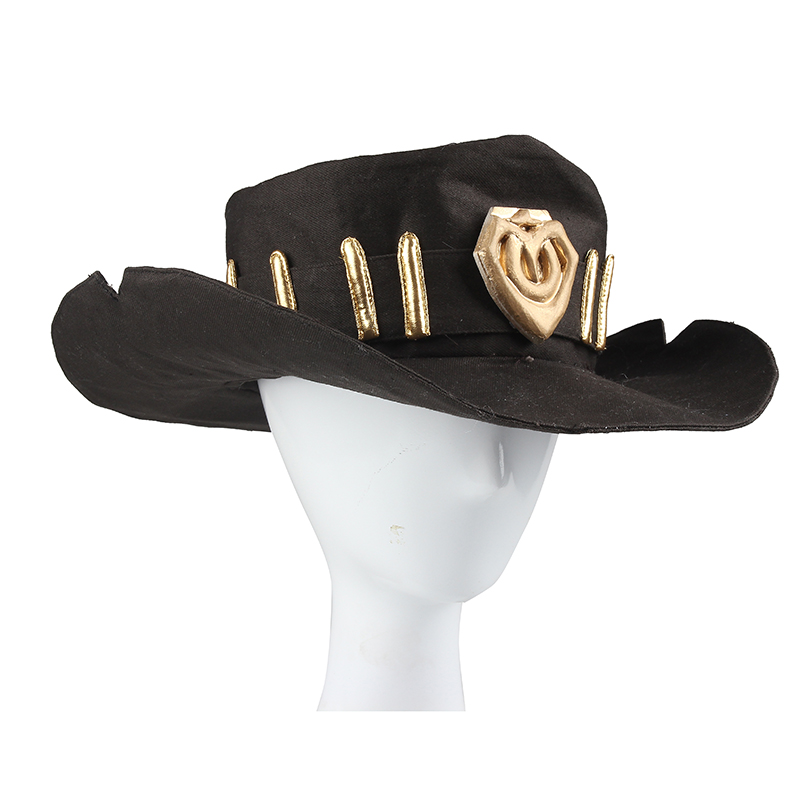 Jesse McCree Cosplay Cap Hat Hot Online Game Cosplay Headwear Cosplay Hat Unisex Anime Game Cosplay Costume Accessories