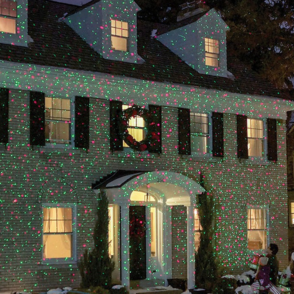 Red Green Spotlight Ip65 Waterproof Christmas Lights Outdoor Laser Projector Decorations Home Garden In Stage Lighting Effect