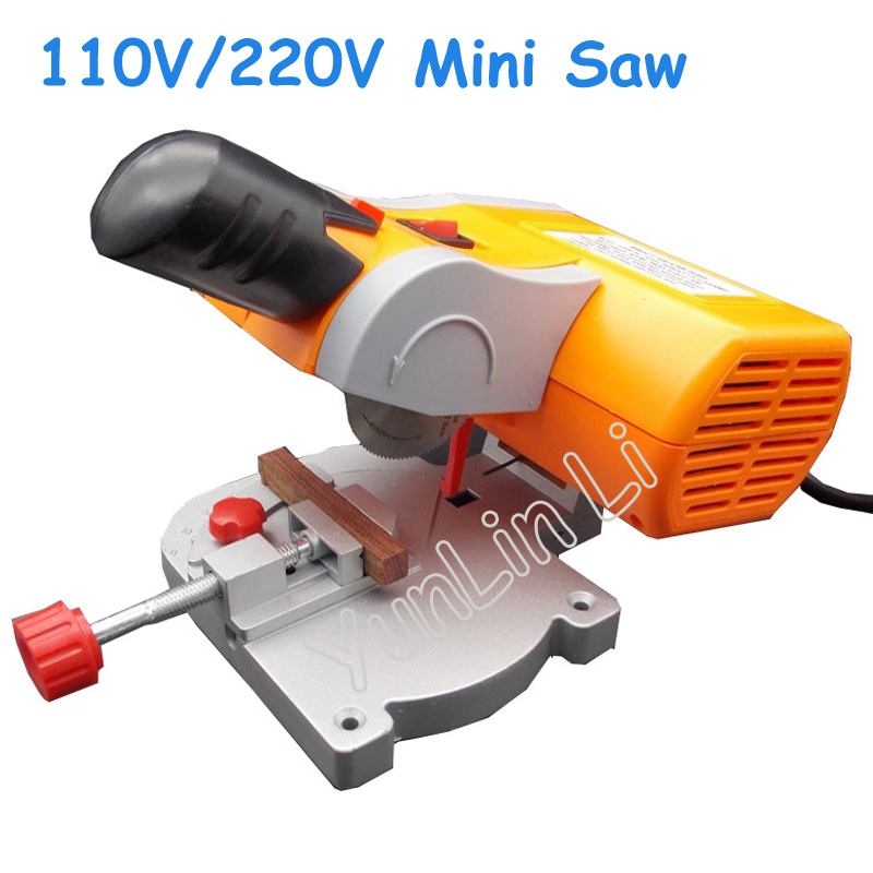 110V/220V Mini Saw Plastic Cutter Non-Ferrous Metal Cutting Machine Woodworking Sawing Machine metal saw machinery portable sawing machine low noise small metalworking sawing machine with english manual