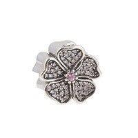 ZMZY New Spring Collection Sparkling Cz Pave Apple Blossom Charms 925 Sterling Silver Fine Jewelry Fit Pandora Bracelets DIY