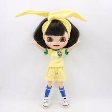 Icy Blyth Leggings Doll Brasil Licca Yellow Shirt DBS Shorts Team-Uniform Soccer Football