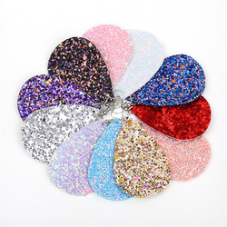 Bohemian moda takı basit kolye damla küpe kadınlar için glitter gözyaşı deri Küpe 6 renk En Iyi arkadaşı hediyeler A79-A84
