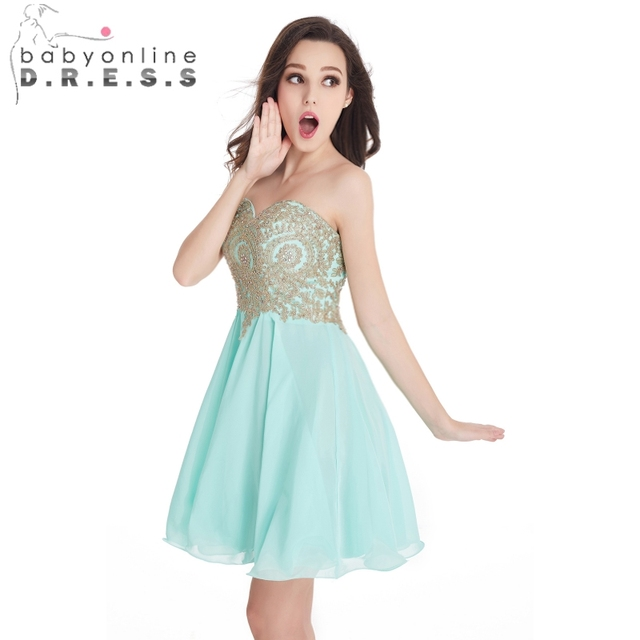 e928d741b46 Real Pic Gold Lace Applique Short Homecoming Dresses 2017 Royal Blue  Burgundy 8th Grade Prom Dress Cheap vestido de festa curto
