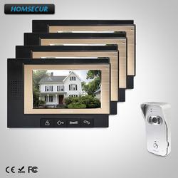 """HOMSECUR 7 """"Проводной Видеодомофон Система Вызова + ИК Ночное видение: TC021-S + TM702-B"""