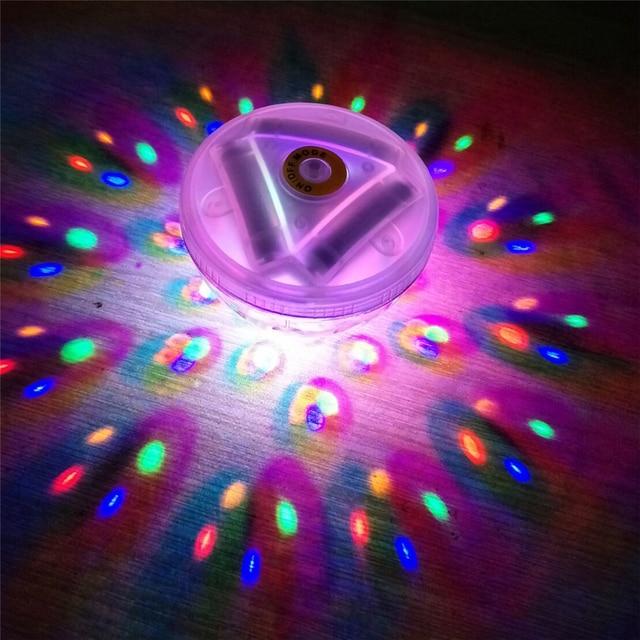 LED Glowing Underwater Fountain Light Show Waterproof Float Disco ...