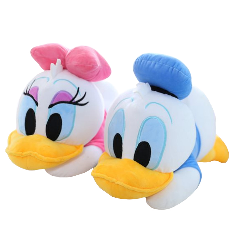 1pc New Arrival Kawaii 23cm Staffed Animal Pillow Dolls Soft Cute Lying Donald Daisy Duck Toys Bedroom Decor Gifts for KIds Girl