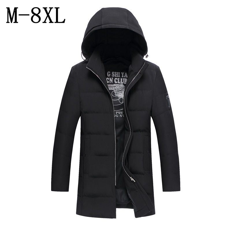 2017 New Winter Jacket Men Cotton Padded Long Thick Warm Casual Hooded Mens Winter Parkas For Deep Winter -30 Plus Size 6XL 7XL 2016 new long winter jacket men cotton padded jackets mens winter coat men plus size xxxl