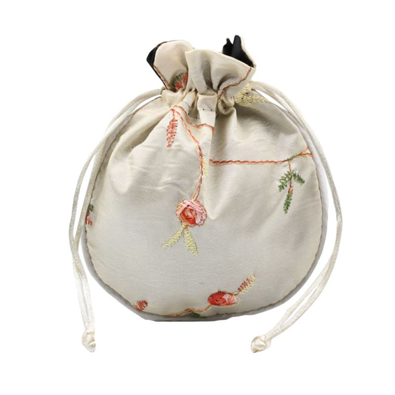 1pc Traditional Silk Travel Pouch Classic Chinese Embroidery Jewelry Packaging Bag Organizer Handbags