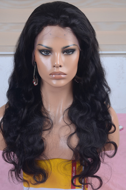 Free Shipping Virgin Unprocessed Remy Remi Indian Hair Full Lace Wig