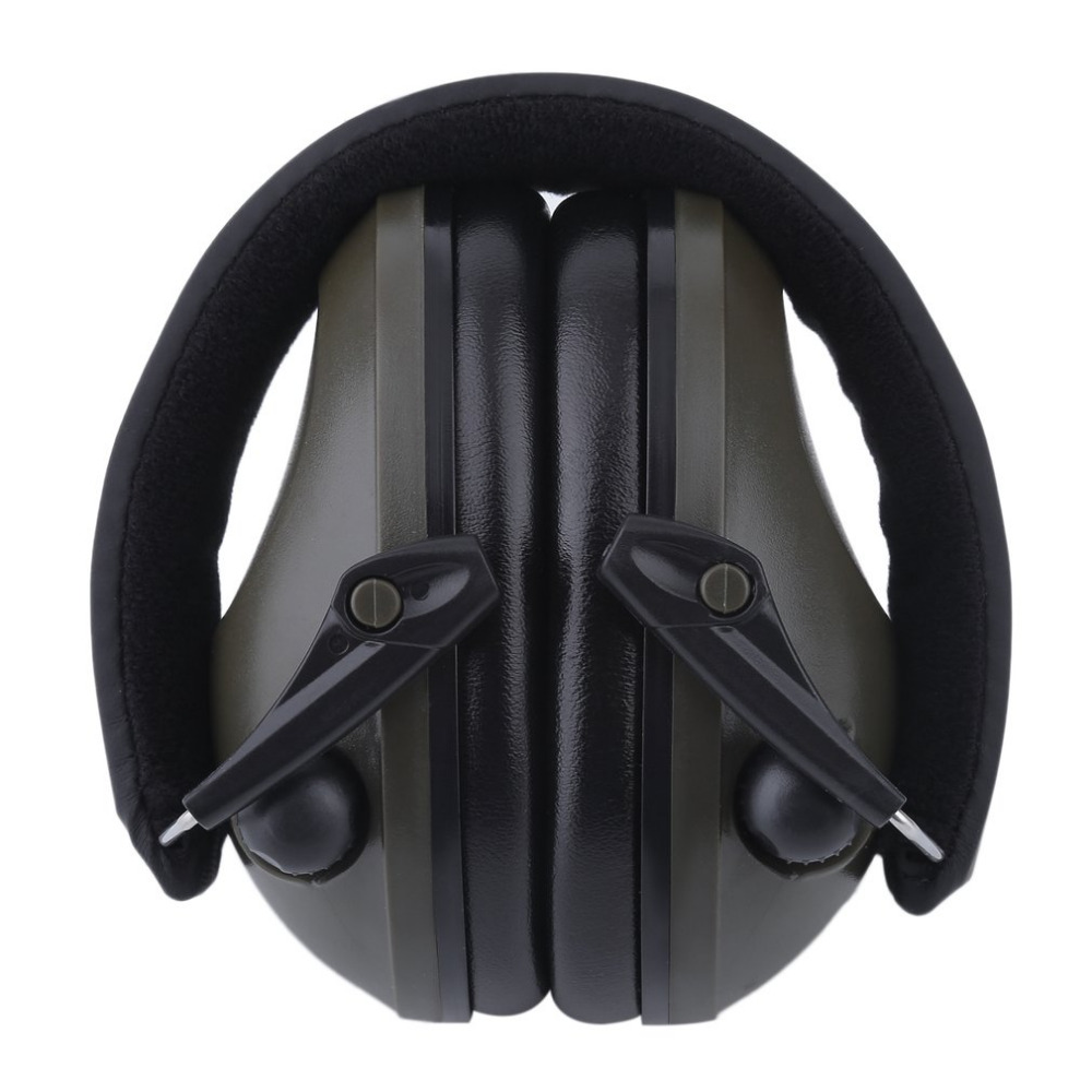 Green Ear Protector Slimline Electronic Impact Sport Hunting Tactical Earmuff Shooting Ear Defenders Hearing Protection forest defenders