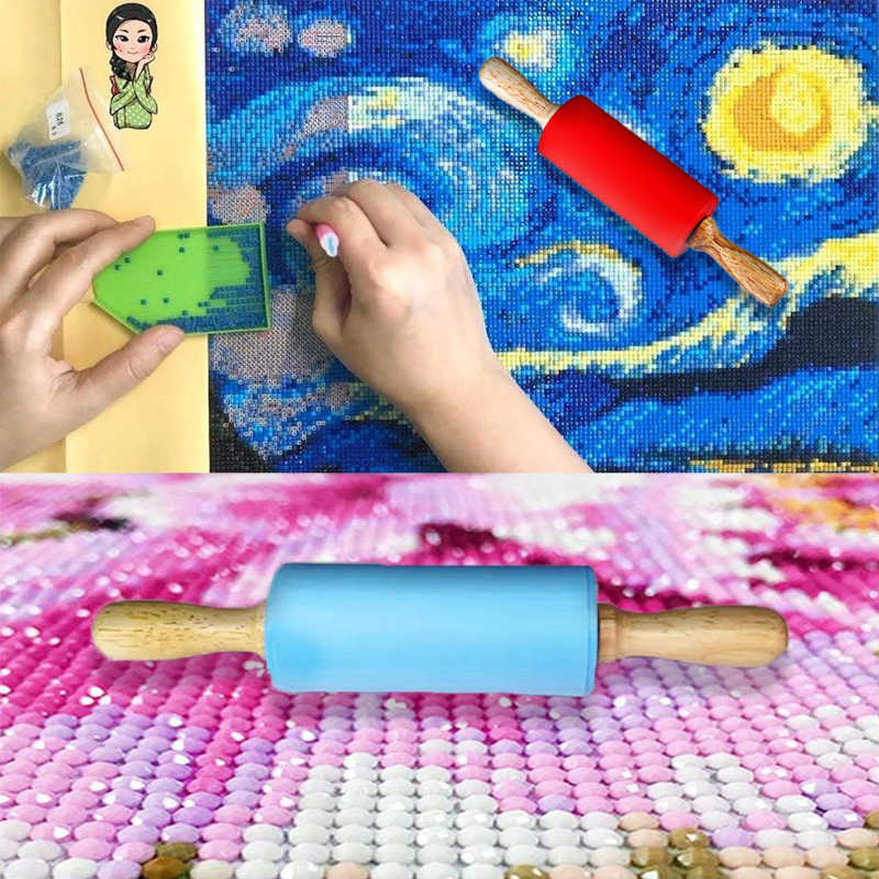 5D Sticking Rhinestone Diamond Painting Cross Stitch Embroidery Silicone Roller