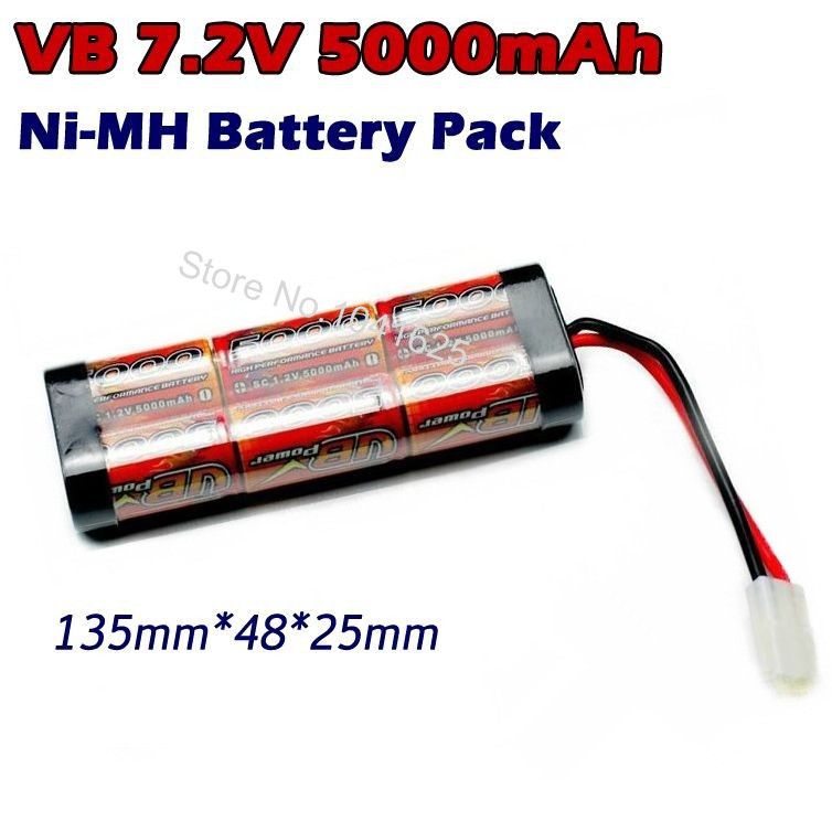vb power racing sc 5000mah 72v nimh battery pack for axial scx10 traxxas slash rc model car truggy monster truck buggy crawler