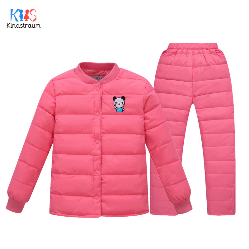 Kindstraum 2017 Winter Cartoon Clothing Suits for Kids Brand Children Coats + Pants Fashion Thcik Down Sets for Girls,RC1592