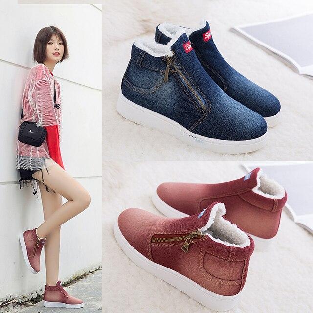 Cuculus 2019 Kış Platformu Çizmeler Kadın Botları Süper Sıcak Kış rahat ayakkabılar Kadın Kovboy yarım çizmeler Kadınlar Için 4 RENK 1365