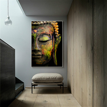 Large Canvas Print Buddha Portrait Poster Wall Art Painting Classical Zen Picture for Living Room Home Decor Dropship