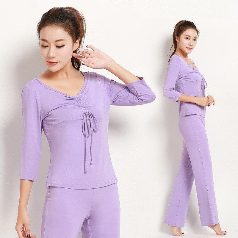 ФОТО The new two pieces set of yoga clothing modal thin female body dance yoga clothing sportswear