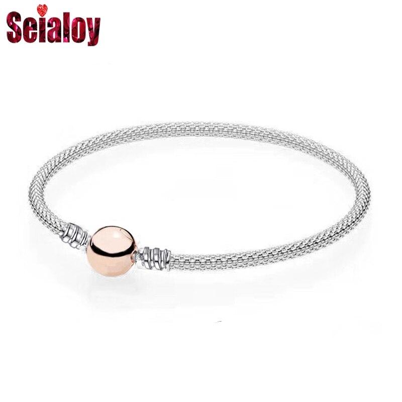 SEIALOY высокое качество стальная проволока Ткачество бренды браслеты и браслеты для женщин подходят оригинальные бусы Шарм браслет Ювелирны...