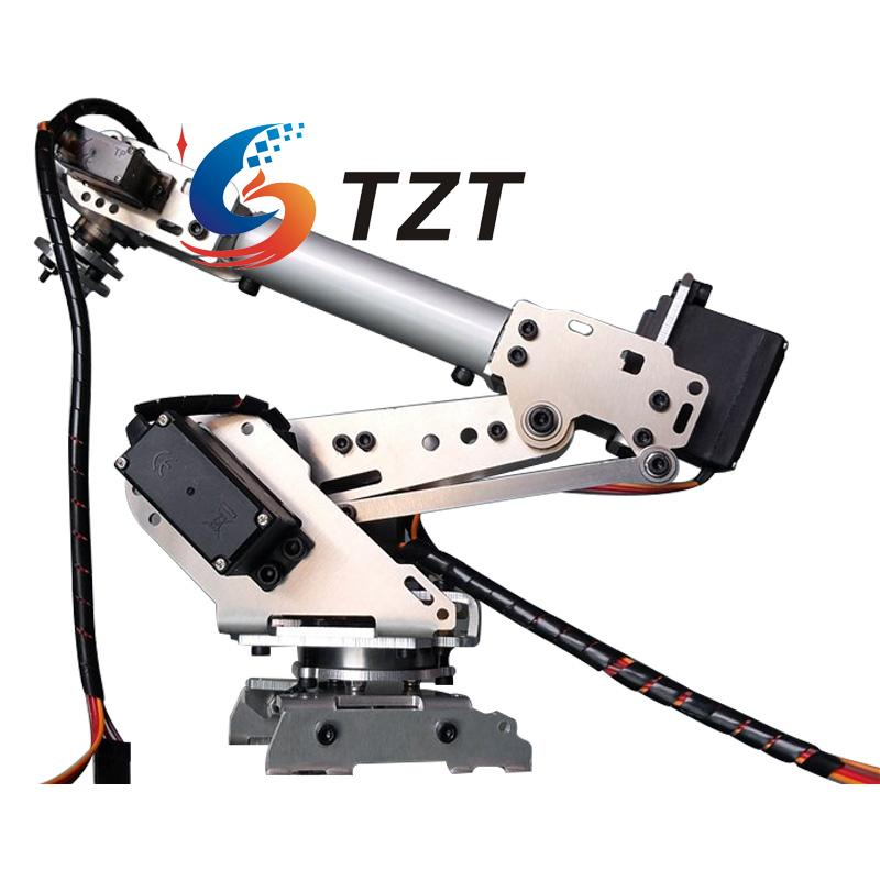 2018 NEW RoboSoul Aluminum Metal S6 6DOF 6 Axis Robot Arm ABB Model Manipulator with 4PCS MG996R and 2PCS MG90S2018 NEW RoboSoul Aluminum Metal S6 6DOF 6 Axis Robot Arm ABB Model Manipulator with 4PCS MG996R and 2PCS MG90S