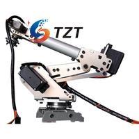 2018 NEW RoboSoul Aluminum Metal S6 6DOF 6 Axis Robot Arm ABB Model Manipulator with 4PCS MG996R and 2PCS MG90S