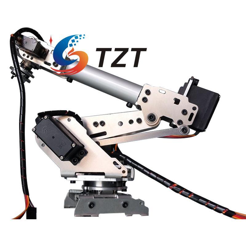 RoboSoul En Aluminium Métal S6 6DOF 6 Axes Robot Bras ABB Modèle Manipulateur avec 4 PCS MG996R et 2 PCS MG90S