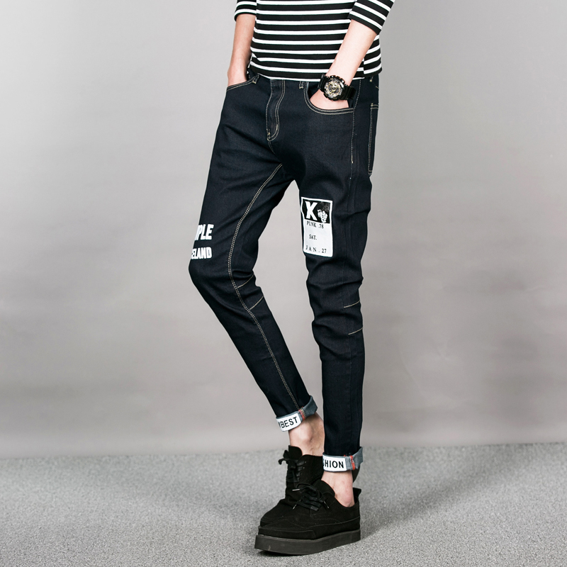 ФОТО 2016 Regular Fit jeans brand jeans male fashion Slim 100% high quality cotton denim blue men's jeans size: 28-34 free shipping