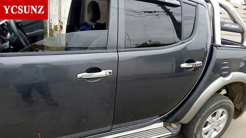 For Mitsubishi L200 Triton Handle Decoration Products ABS Chrome Door - Auto Replacement Parts - Photo 4