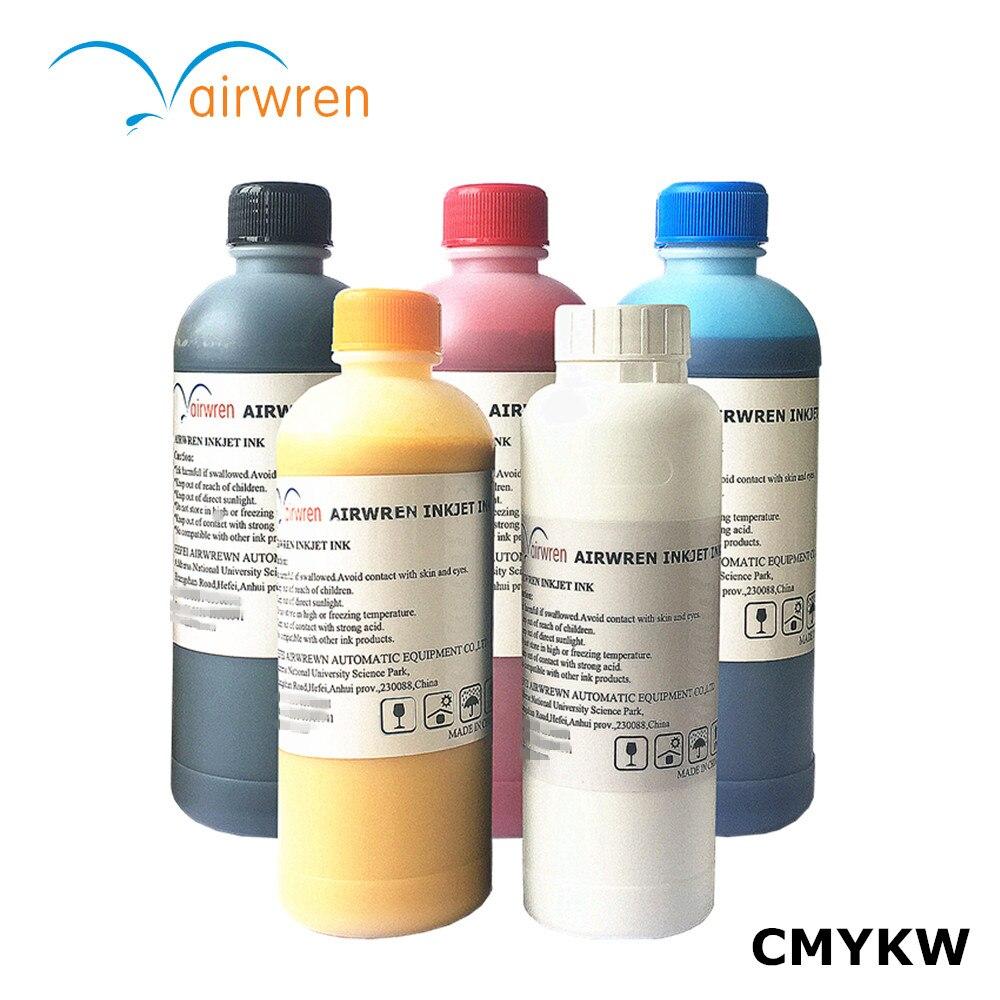 Encre Textile pour DTG imprimante t-shirt/CMYKW 500 ml à 2500 ml prétraitement liquide gratuitement
