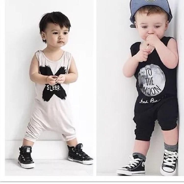 2016 ins baby meisje jongens rompertjes geen slaap brief leuke pasgeboren kleding katoen kids romper pasgeboren baby kleding bebe overall